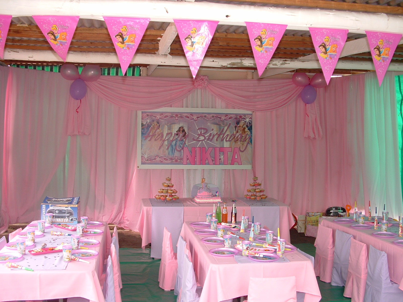 photo ideas for wedding party - Gallery jumping castle Princess princess theme